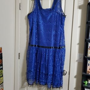 Handmade lace flapper gown with slip  size 24